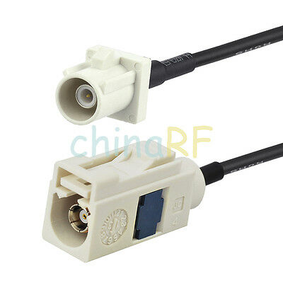 Fakra B Female to Male pigtail RG174 5m for FM Radio Antenna Extension Cable
