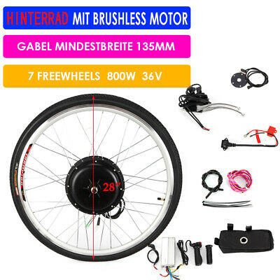 "Kit de conversión de bicicleta trasera E 26 ""E 36V 800W Ebike Electric Bike Kit"