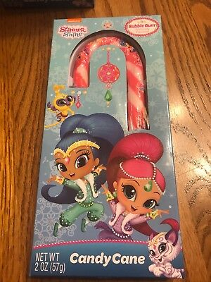 Shimmer And Shine Candy Cane Bubble Gum Flavored Great Christmas Stocking