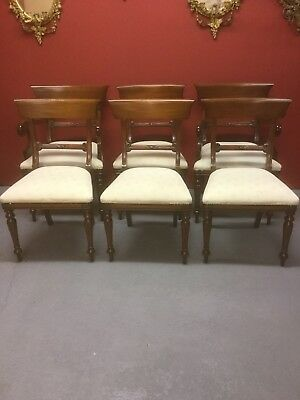 Antique Style Set Of 6 Upholstered Dining Chairs Sn-986a