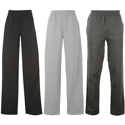 Womens Open Hem Jogging Bottoms Joggers Fleece Trousers Ladies Tracksuit Pants