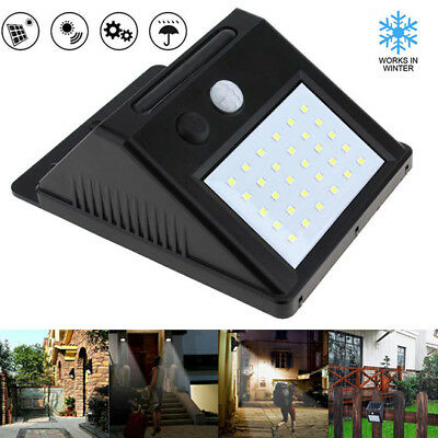 30 LED Waterproof PIR Solar Power  Motion Sensor Wall Garden Light Outdoor Lamp