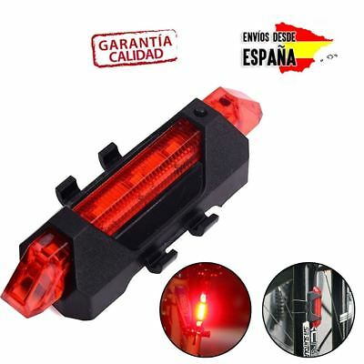 Luz Led Para Bicicleta Luces Led Para Bici Color Rojo Reflectante Trasera Roja