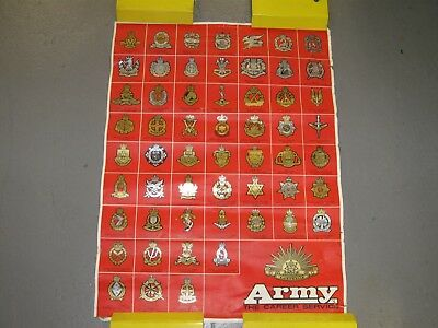 Australian Army Poster 61cm x 46cm  1970s Recruitment Poster Features cap badge