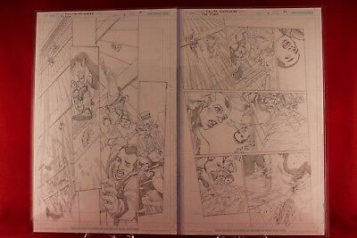 Flash #5 two-page spread. Pages 10 & 11. Original Art by Felipe Watanabe