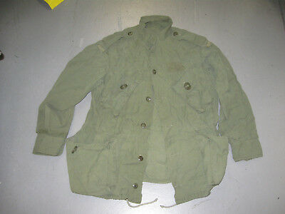 Canadian Army Jacket Shirt 1970 With Flashes And Manufacture Tag