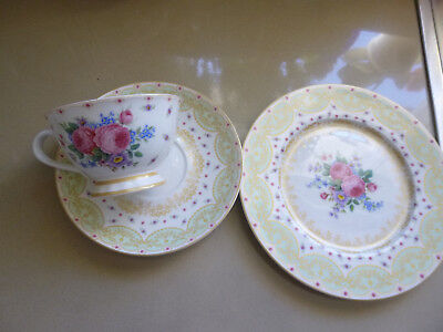 NEW Historic Royal Palace ROSE fine bone china trio  Cup Saucer and Plate