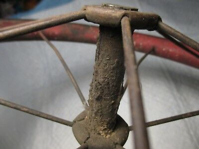 """Vintage Baby Buggy Carriage Tricycle Wheels Tire primitive spoke wheel parts 12"""""""