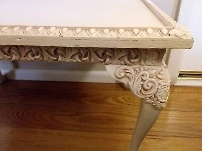 Vintage French Style Coffee Side Table Ornate Gesso Details