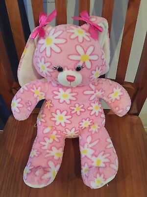 Gorgeous Pink Daisy Covered Build A Bear. Excellent Condition
