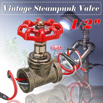 Retro Iron 1/2'' Pipe Lamp Switch Valve Steampunk Industrial Ceiling Table Light