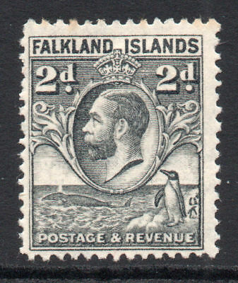 Falkland Islands 2d Stamp c1929-37 Mounted Mint (tiny tone) (1453)