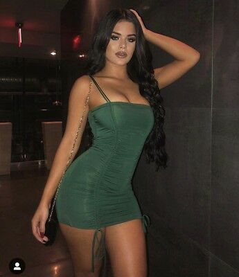 5f10a60b5ec OH POLLY SWEET Little Ties Mini Dress - Dark Green - Size 10 ...