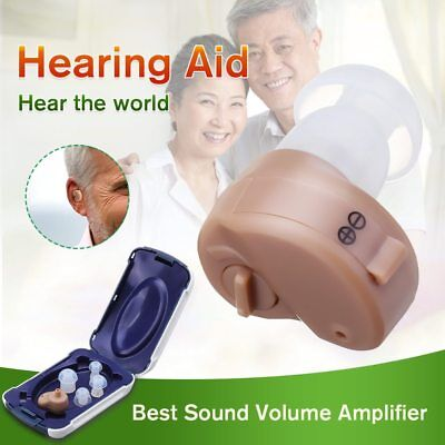 K-80 In-Ear Hearing Aid Best Small Invisible Sound Amplifier Adjustable Tone