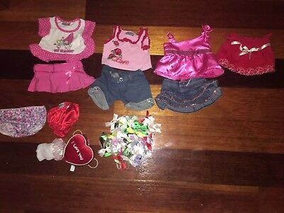 Bundle Of Beautiful Build A Bear Outfits Shoes Accessories. Excellent Condition!