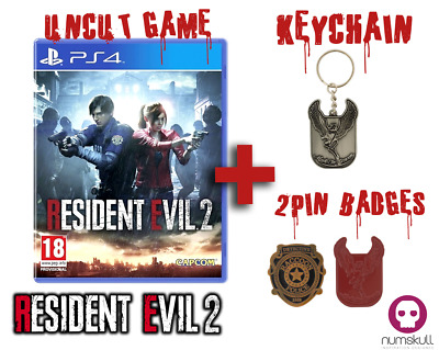 RESIDENT EVIL 2 HD REMAKE | Playstation 4| NEU& OVP | + KEYCHAIN + PIN BADGE SET