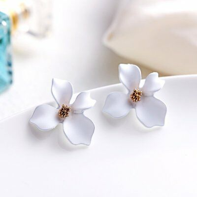 New Simple Flower Drop Dangle Earrings Ear stud Womens Jewellery Party Gift Hot