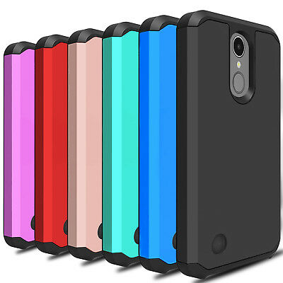For LG Aristo 3/Tribute Empire Case Shockproof Hybrid TPU Armor Hard Phone Cover