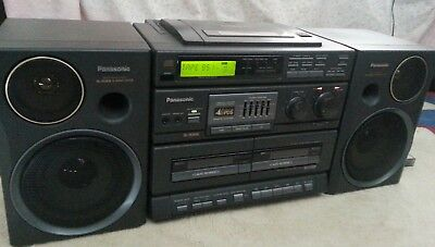 Panasonic Boombox Model RX-DT680  detachable speakers runs on batteries or mains