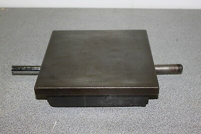 "9"" x 9"" cast iron surface plate in good used condition"