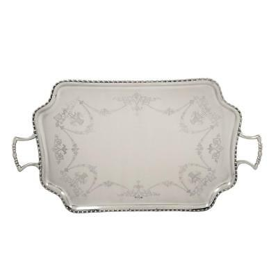 "HEAVY ANTIQUE STERLING SILVER 25"" TRAY - 1912 - 2860g"