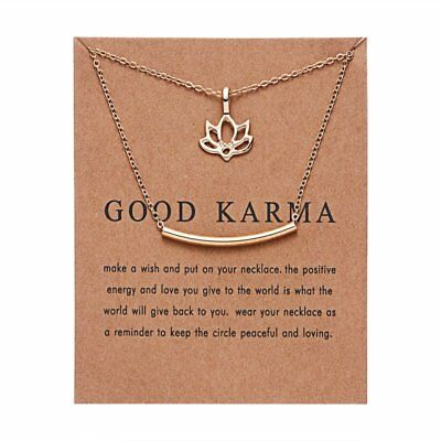 Fashion Good Karma Simple Pendant Necklace Jewelry Womens Lucky Party Gift New