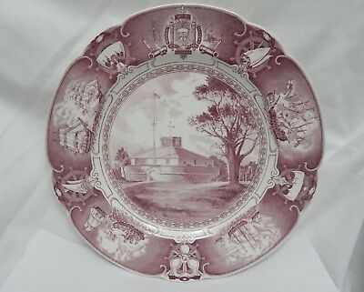 Wedgwood U.s. Naval Academy Mulberry Dinner Plate Old Fort Severn 1851