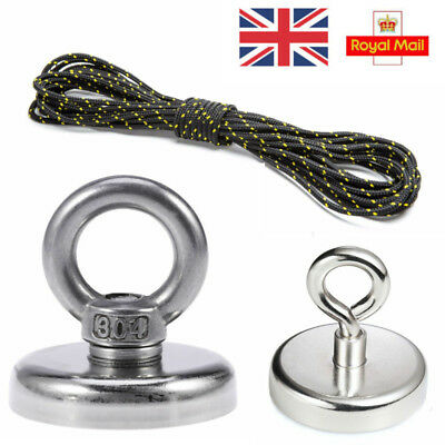 130/120kg Recovery Magnet Fishing Treasure Metal Detector +30M Rope FOR lifting