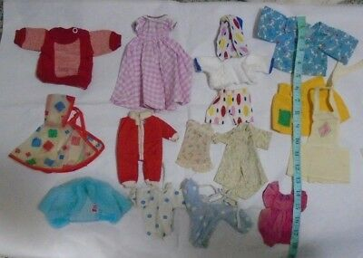 "Large Lot 14 Pieces Vintage Doll Clothes for 8""- 12"" Dolls  ~  $2 Shipping"