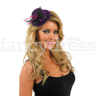 PINK GLITTER TOP HAT /& FEATHER BOA LADIES BURLESQUE FANCY DRESS HEN NIGHT PARTY