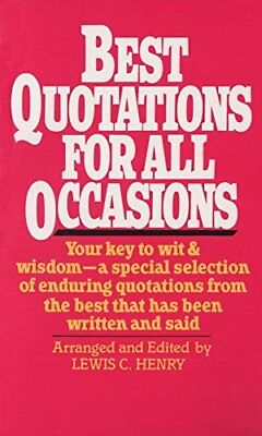 Best Quotations For All Occasions by Henry, Lewis Paperback Book The Cheap Fast