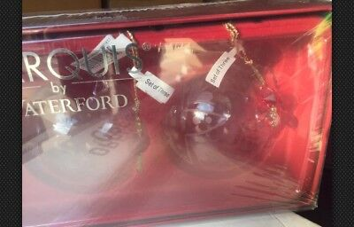 Marquis by Waterford - Set of 3 Christmas ball ornaments NEW/Never OPENED/Sealed