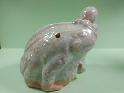 Antique Chinese ceramic water dropper.