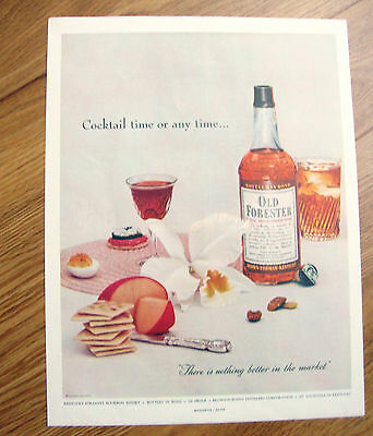 1954 Ad Old Forester Whiskey Whisky