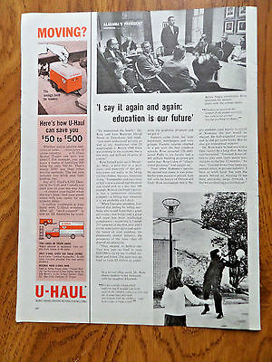 1963 U-Haul Moving Ad  the Savings Bank for Movers