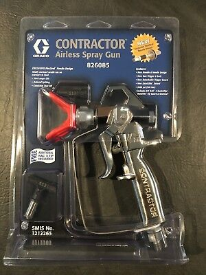 Graco Contractor Airless Spray Gun 826085 NEW With Rac 5 Guard & 5/17 Tip & 4/13