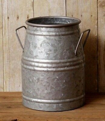 FARMHOUSE MILK CAN Decorative Galvanized Utensil Holder Vintage Style Primitive