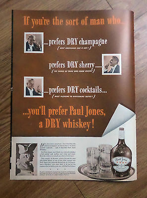 1937 Paul Jones Whiskey Ad  If you're the Sort of Man