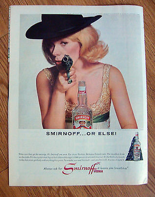 1964 Smirnoff Vodka Ad  Tammy Grimes Star of Broadway Hit High Spirits
