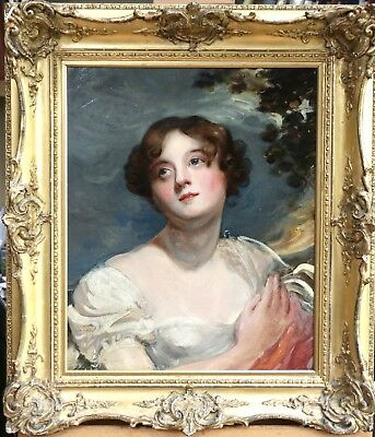 18th CENTURY OLD MASTER ENGLISH GEORGIAN OIL - PORTRAIT OF A BEAUTIFUL LADY