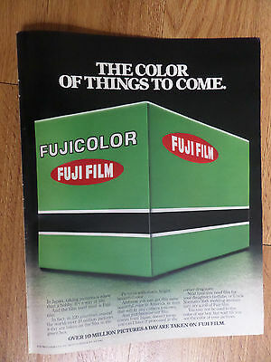 1978 Fujicolor Fuji Film Ad  The Color of Things to Come