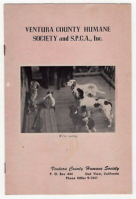 """1950s Brochure: """"Ventura County Humane Society and S.P.C.A."""" [Oak View, Calif]"""
