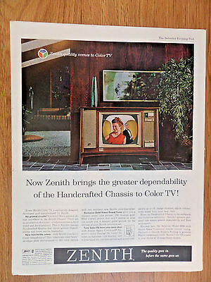 1962 Zenith TV Television Ad Handcrafted