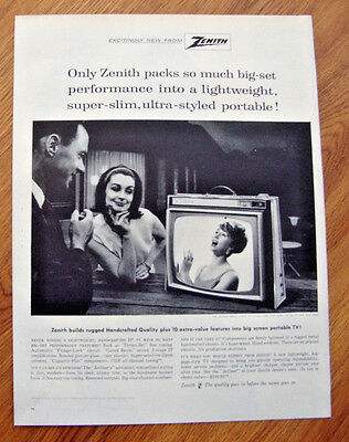 1963 Zenith TV Television Ad  Jetliner Model L-2155