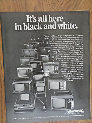 1970 Panasonic TV Television Ad  It's All here in Black & White