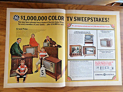 1967 GE General Electric TV Television Ad  Sweepstakes