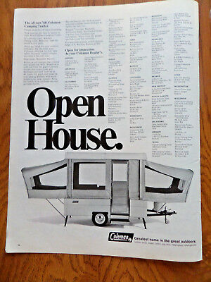 1968 Coleman Camping Trailer Ad    Open House