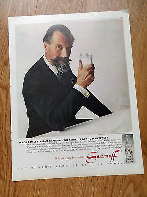 1963 Smirnoff Vodka Ad Commander Edward Whitehead President of Schweppess