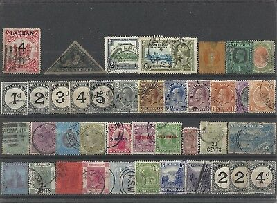 commonwealth early used odds stamps