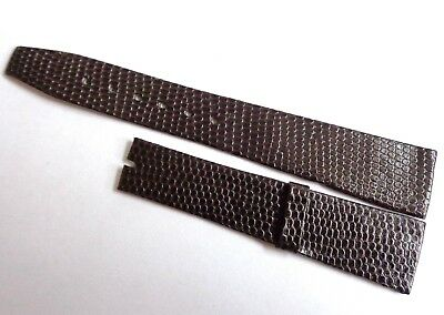Vintage Swiss Made 18mm New Old Stock Lizard Skin& Leather Hand Made Watch Strap